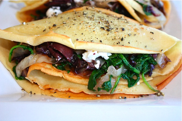 The fake crêpe readjusted – Socca stuffed with peppery greens ...