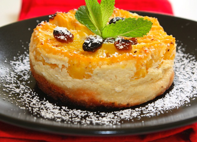187 tart brioche with coconut fromage blanc and pineapple