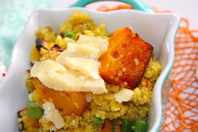 More quinoa – Saffron quinoa risotto-style with roasted squash